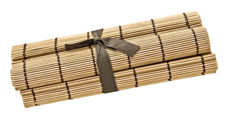 Tovaglietta bamboo noce prima colazione set4 pezzi