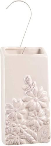 Umidificatore ceramica bianco decoro margherite