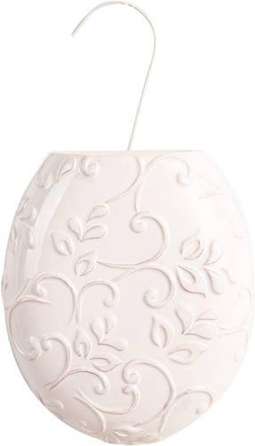 Umidificatore ceramica ovale bianco fiori termosifoni