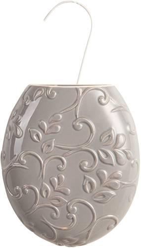 Umidificatore ceramica ovale grigio fiori termosifoni
