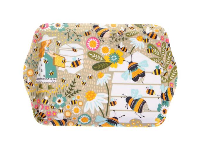 Vassoio piccolo api e fiori Ulster Weavers 21x14