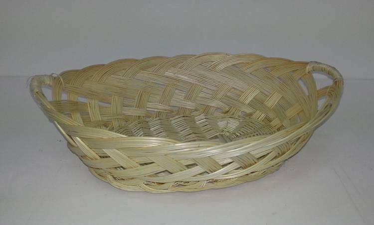 Vassoio ovale vimini treccia cm 48