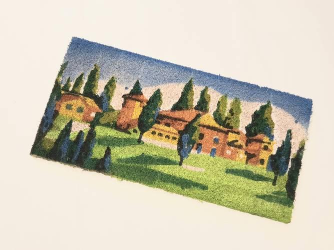 Zerbino cocco scalino cm50 case con alberi