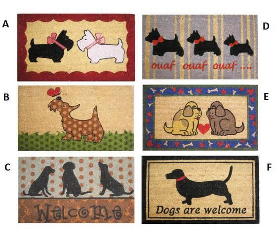 Zerbino colorato cocco cani