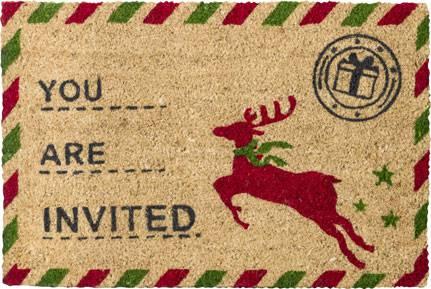 Zerbino cocco Christmas cartolina 40x60