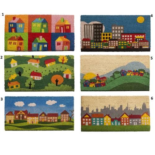 Zerbino cocco ingresso case colorate 40x70