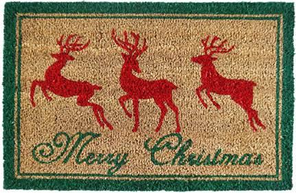 Zerbino cocco renne Merry Christmas 40x60