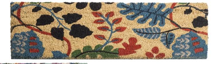 Zerbino cocco scalino boho foglie 24x70