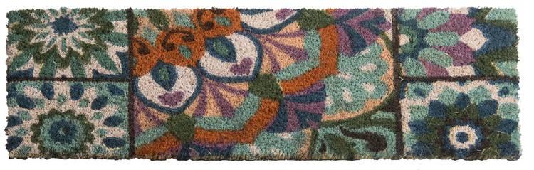 Zerbino scalino cocco boho fiore arancio 24x70