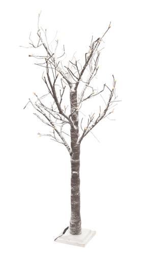 Albero natale rami innevati con luci led 160h