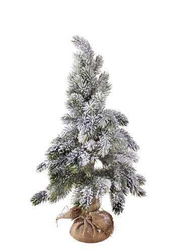 Albero natale pino imbiancato con iuta h 60