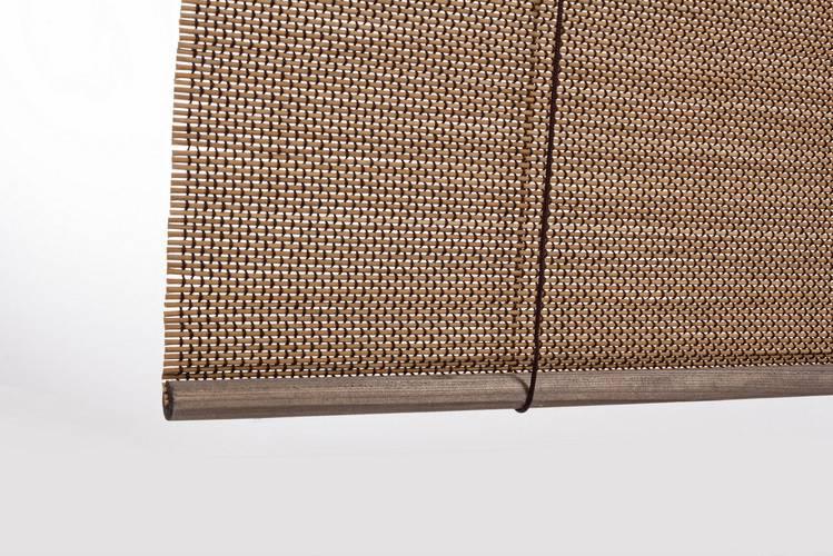 Tapparella da sole midollino tabacco tessitura marrone avvolgibile