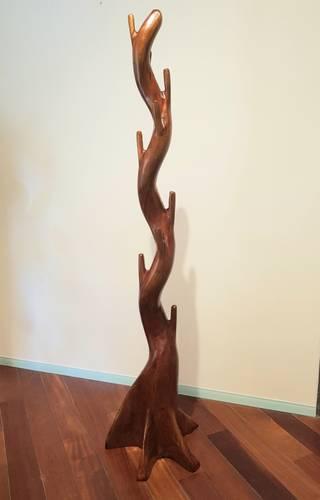 Appendiabiti albero legno teak naturale colore noce
