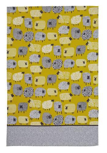 Asciugapiatti - tea towel cotone pecore