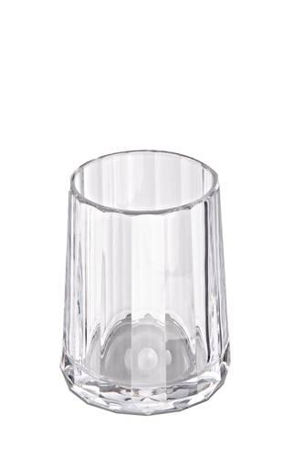 Bicchiere bagno p.spazzolini prezioso trasparente