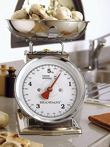 Bilancia cucina squadrata acciaio 5 kg