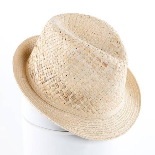 Cappello rafia naturale tipo alpino