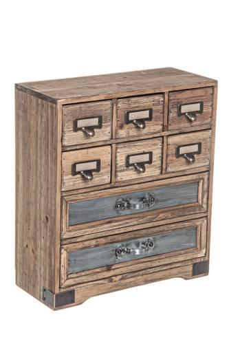 Cassettiera legno officina da tavolo 8 cassetti