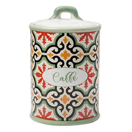 Barattolo Cefalù caffè ceramica colorata