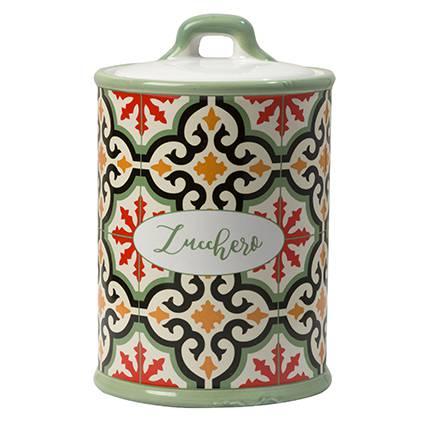 Barattolo Cefalù zucchero ceramica colorata