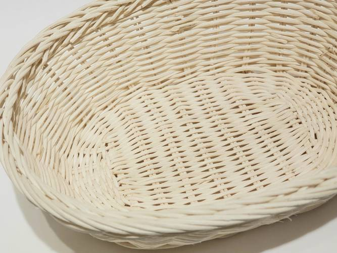 Cestino paniere ovale midollino naturale