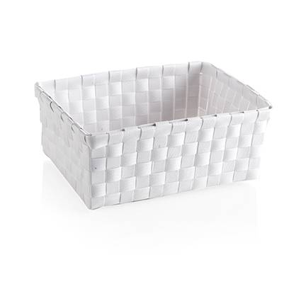 Cestino pvc reggetta bianca 20x15