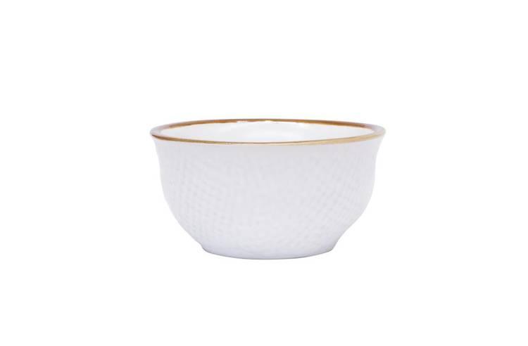 Ciotolina bianca pinzimonio porcellana collezione mediterraneo