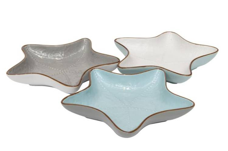 Ciotola stella marina porcellana collezione mediterraneo