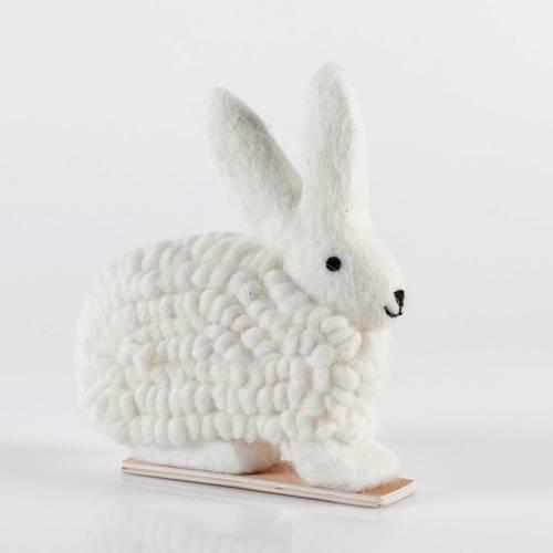 Coniglio lana bianca grande