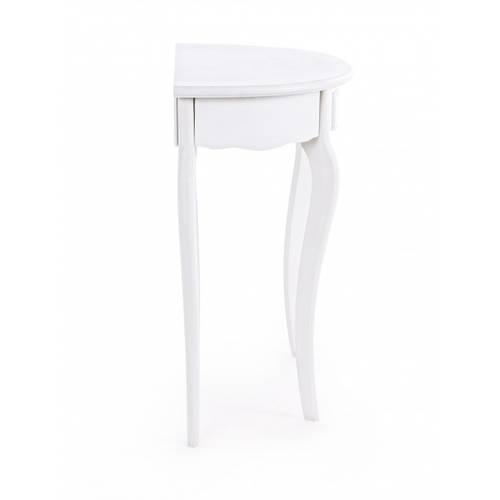 Consolle legno bianco stondata