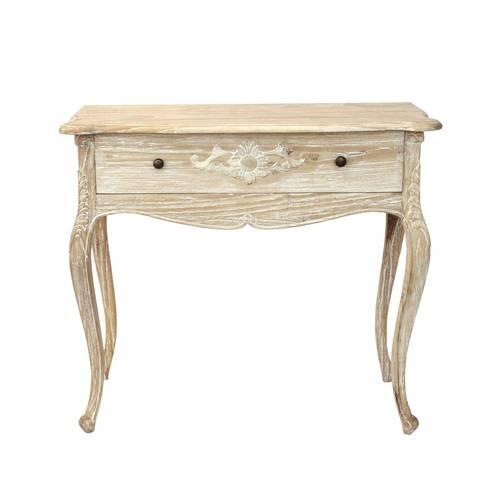 Consolle legno naturale cedro shabby con cassetto cm90