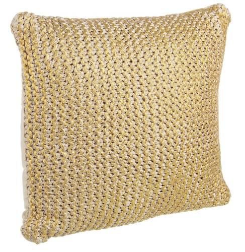 Cuscino maglia oro