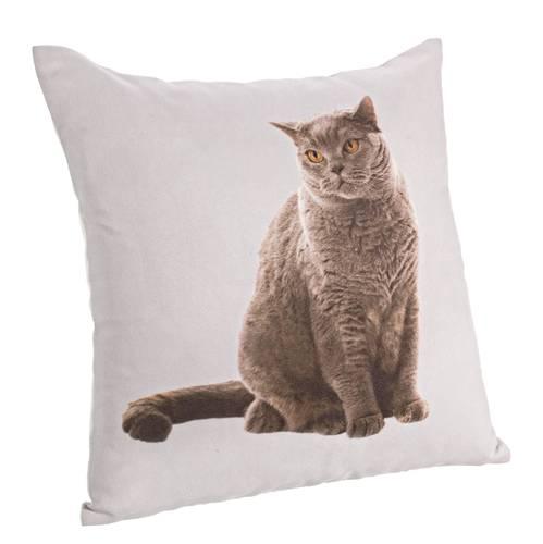 Cuscino grigio stampa gatto