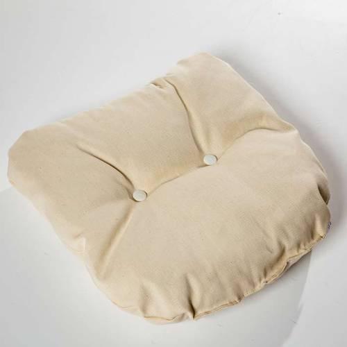 Cuscino cotone trapuntato ecrù per poltroncina