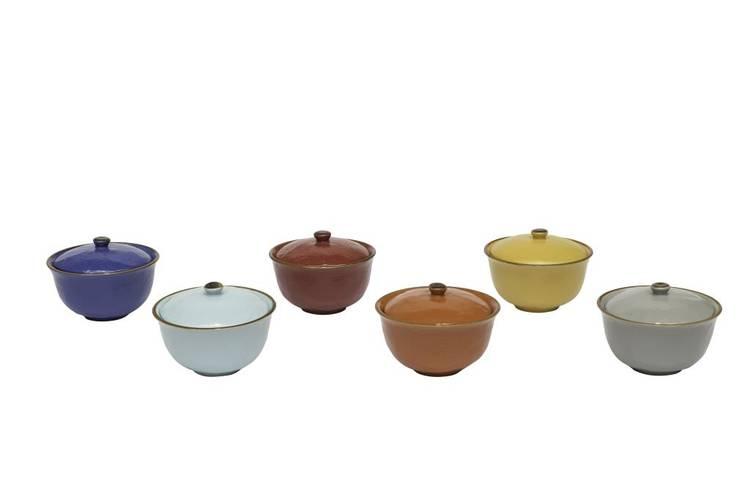Formaggiera porcellana collezione mediterraneo