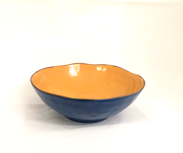 Insalatiera blu porcellana collezione mediterraneo