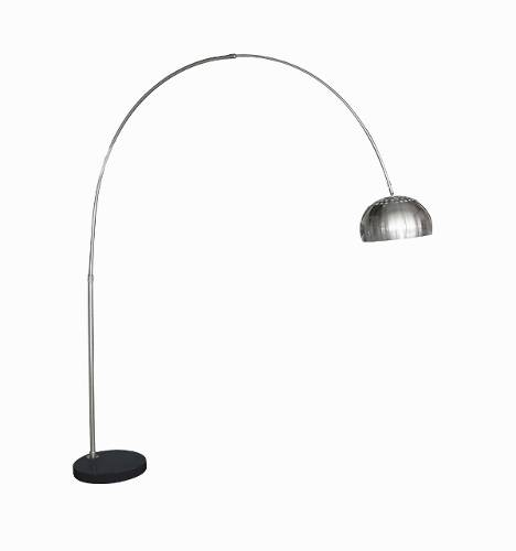 Lampada acciaio a raggio 220 base marmo nero