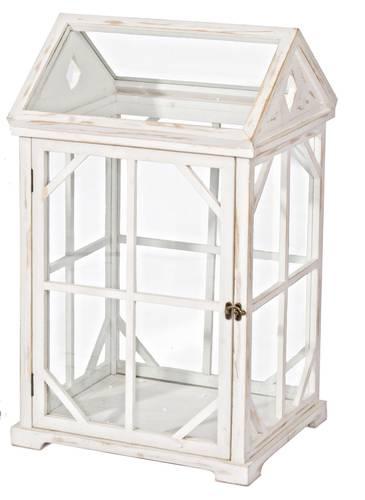 Lanterna legno bianco formato serra finestrata
