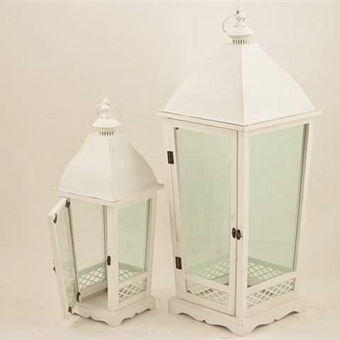 Lanterna pagoda legno bianco