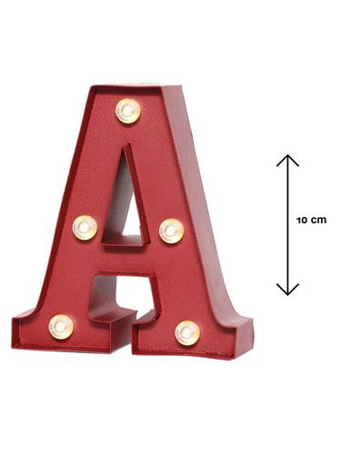 Lettera metallo rossa luminosa A