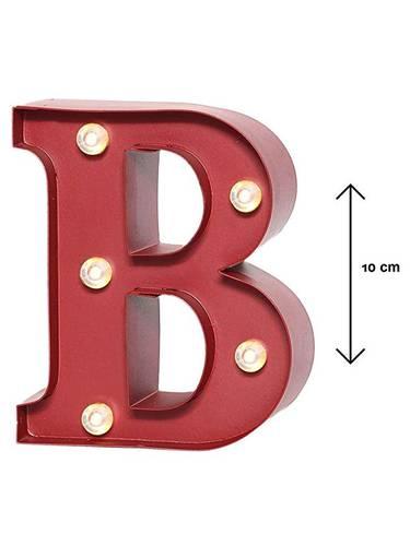 Lettera metallo rossa luminosa B