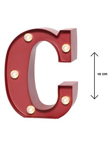 Lettera metallo rossa luminosa C