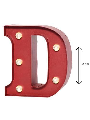 Lettera metallo rossa luminosa D