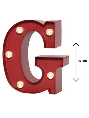 Lettera metallo rossa luminosa G