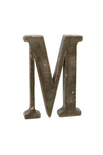 Lettera metallo M bronzo