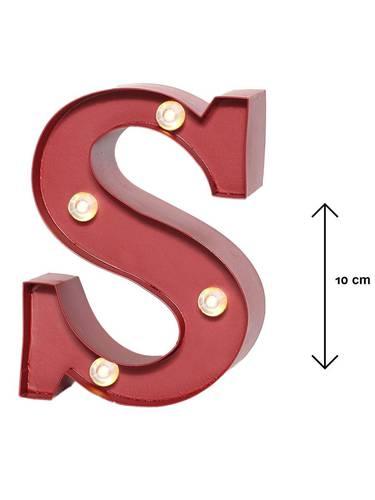 Lettera metallo rossa luminosa S