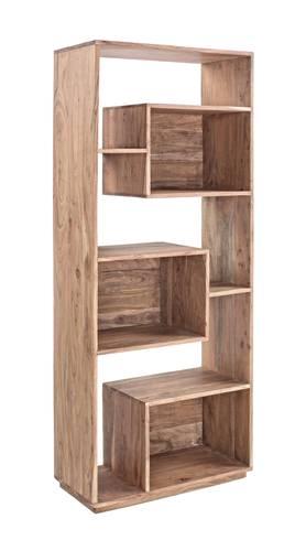 Libreria legno acacia piani sfalsati