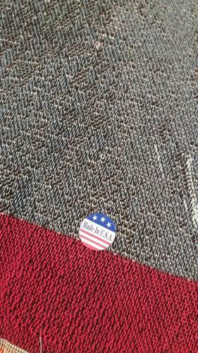 Plaid tessuto a telaio Orsetti con bandiera