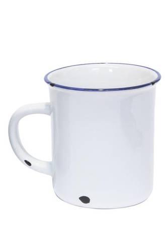 Mug smaltata bianca h9
