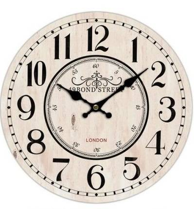 Orologio Bond Street legno cm58